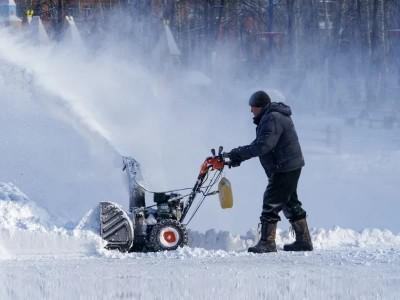 Установка снегоуборщика на мотоблок