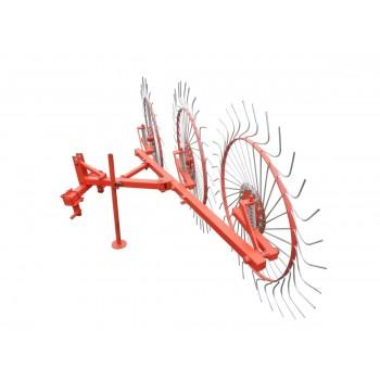 Грабли колесно-пальцевые «Солнышко» на 3 колеса для минитрактора