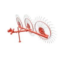 Грабли колесно-пальцевые «Солнышко» на 3 колеса для мототрактора