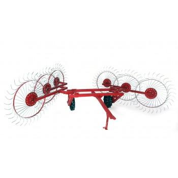 Грабли колесно-пальцевые «Солнышко» на 6 колес для мототракторов и минитракторов
